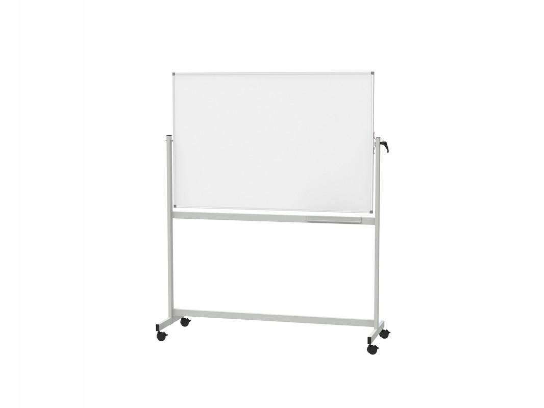 mobile rotating whiteboard 100x150cm tnp visual workplace
