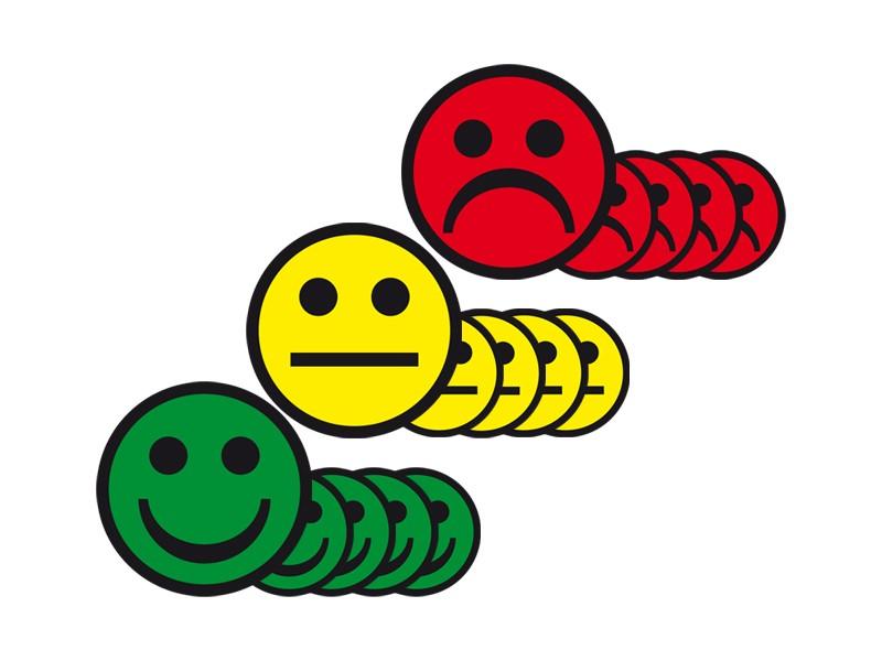 Magnetic smileys 5cm