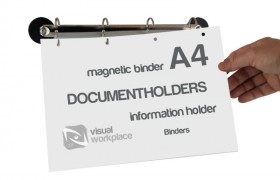 Magnetic ring binders to archive your documents.