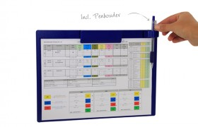 Magnetic clipboard A4 Landscape - OEE documents