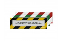 Magnetic window A4 headers (mixed colours)