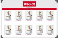 Personnel board | Example Bergman Clinics (60x90cm)