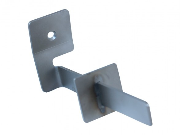 Stainless steel storage hook single with stop